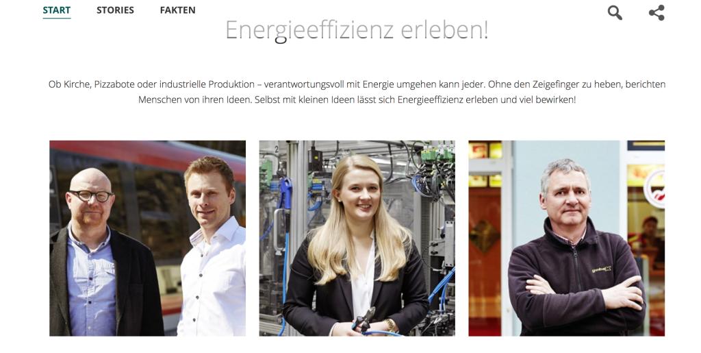 Screenshot EE-Portal